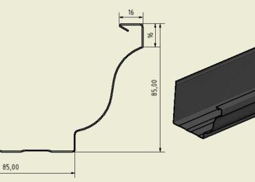 Medidas y perfil de canalones de aluminio codelo Cornisa de Canalum