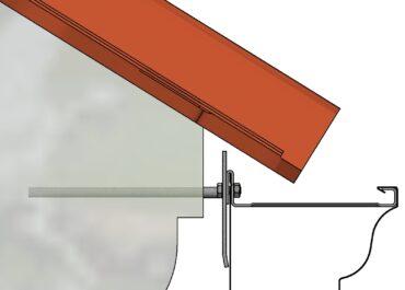 Ejemplo de colocación canalon aluminio modelo Cornisa de Canalum