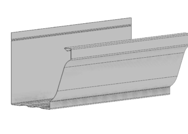 Perfíl de canalón de aluminio modelo Cornisa