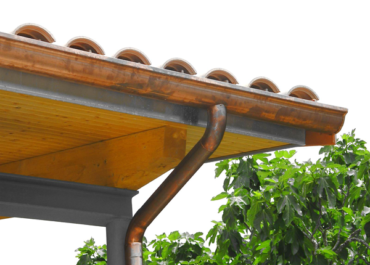 Canalón de aluminio imitación cobre Modelo San Marco de Canalum
