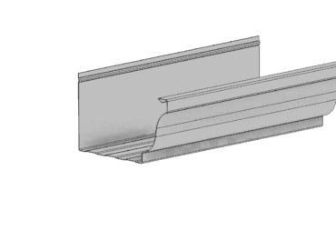 Perfíl canalón de aluminio modelo Tiburon de Canalum