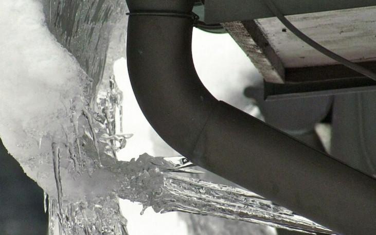 Evitar la congelación de los canalones pluviales