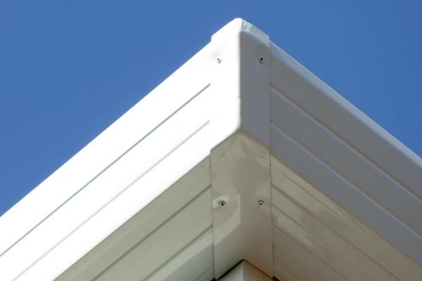 Canalón de aluminio blanco Moelo Design de Canalum
