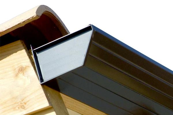 Canalón de aluminio color gris oscuro Modelo Design de Canalum
