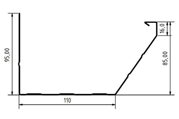 Medidas del canalon de aluminio modelo Design de Canalum